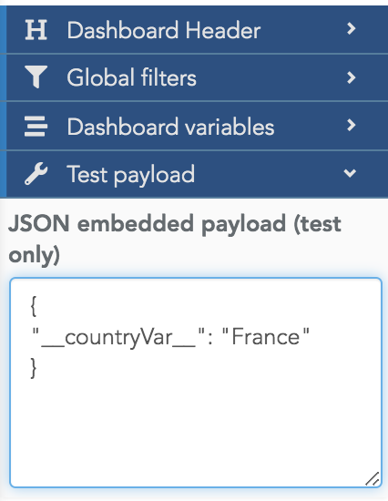 Use a test payload